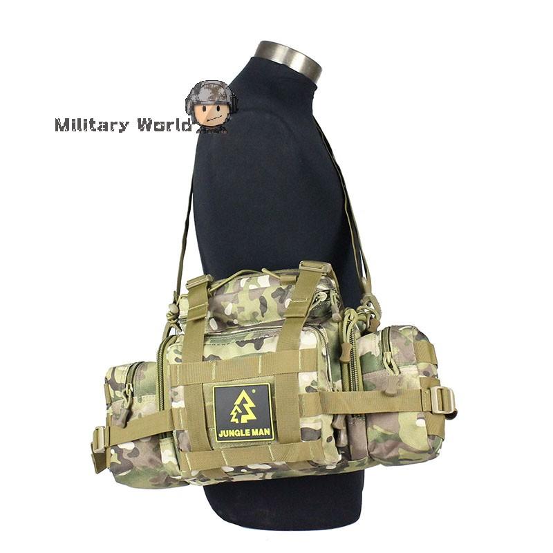 Big Size Waist Bag Military Tactical 10L Large Capacity Waist Bags marsupio Trekking Ripstop for Hunting Camping Hiking Airsoft