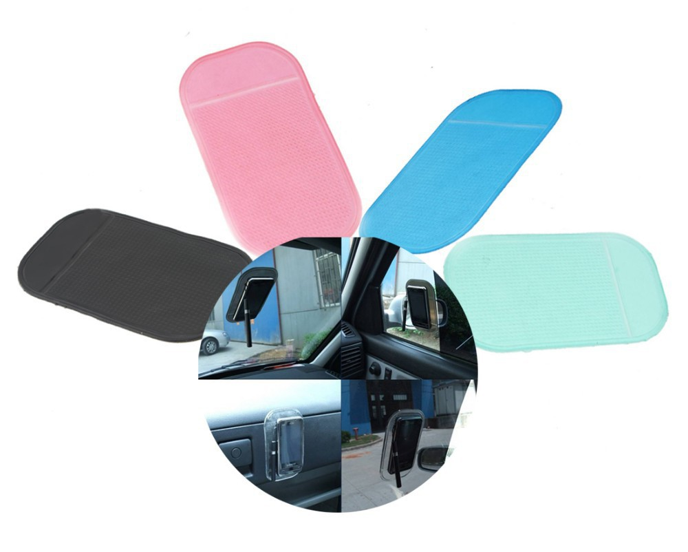 Powerful Silica Gel Magic Sticky Pad Anti Slip Non Slip Mat for Phone PDA mp3 mp4 Car Accessories Multicolor(China (Mainland))