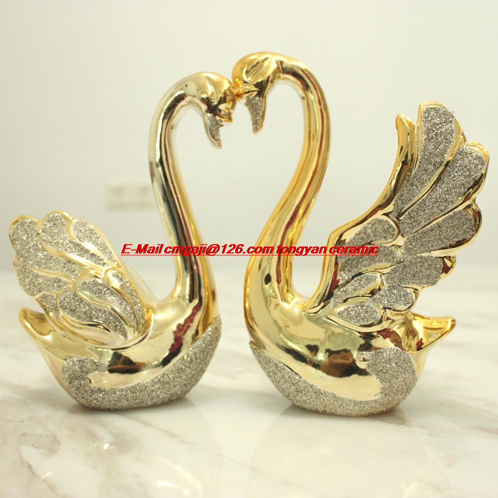 Ideas For Wedding Gifts For Couples : couple swan ornaments crafts modern minimalist wedding gift ideas ...