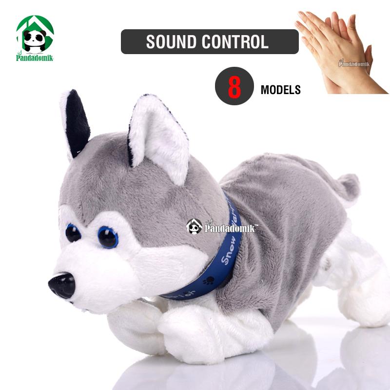 Electronic Pet Interactive Dog Sound Control Dogs Baby Toy Brinquedos Plush Dolls Toys Children - Pandadomik store