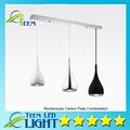 Free ship American Style Pendant Lamp Dia16cm H120cm Kitchen Pendant Light Aluminum Chrome 110 240V Three