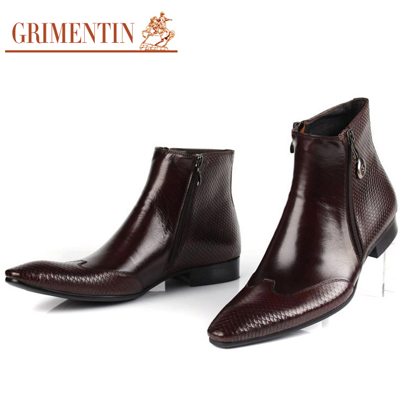 Black Leather Boots Men Promotion-Shop for Promotional Black ...