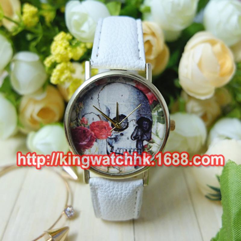 Wholesale High Quality Luxury Brand Leather skeleton Geneva Watch For Women Fashion Quartz Wristwatches Free shipping <br><br>Aliexpress