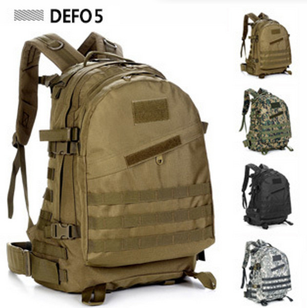 40L Outdoor Tactical Bag WOLF BROWN Tactical Military Backpack Large Size Travel Hunting Trekking Molle System Tactical Backpack
