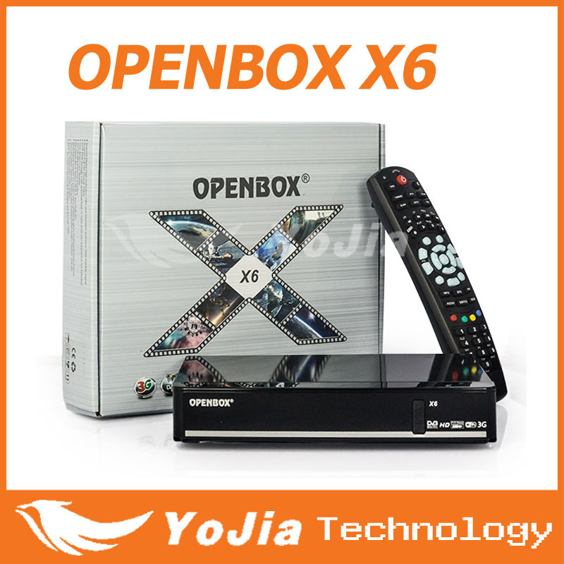 1pc Full HD Genuine Openbox X6 Satellite Receiver Support 2xUSB port PVR Ready VFD display Cccamd Newcamd Youporn Redtube WEB TV(China (Mainland))