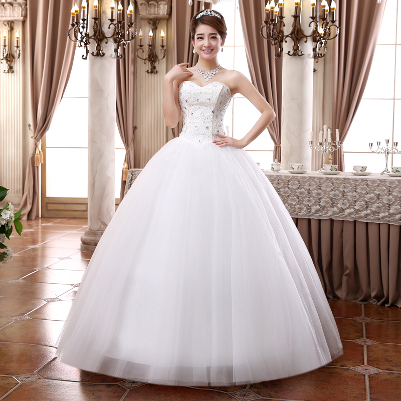 2015 new Wedding dress formal dress married diamond top ...