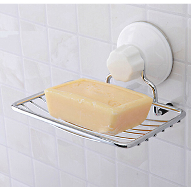 Brand new suction cup soap holder soap wall mounted sq 1929 soap dish bathroom accessories 2015 for Wall mounted soap dishes for bathrooms