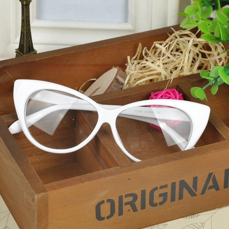 Plain Eye Frame Spectacle Cat Eye glasses Eye Styling Leopard Eyeglasses Frame Women Brand Birthday Gift PHM458*30