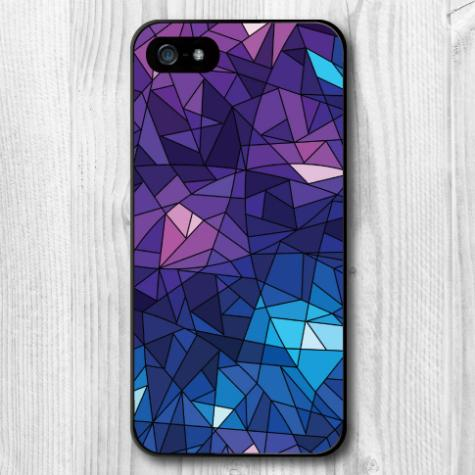 Purple Geometric Ice Cube Protective Hard Cover Case iPhone 6 Plus 5 5S 5C 4 4S Quality Phone - NEW SWELL Watchs Store store
