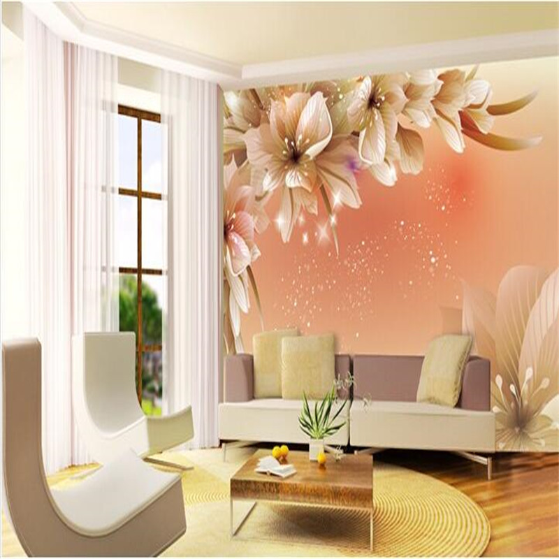 Custom photo wall paper large mural 3d cozy bedroom modern for 3d mural wallpaper for bedroom
