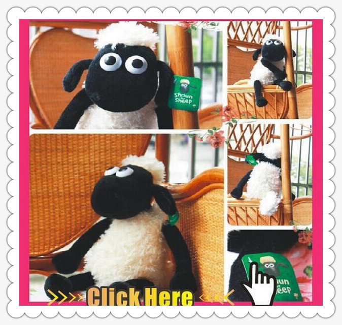 Shaun The Sheep 2015 New 25cm Cute Lamb Plush Toys Wholesale Christmas Gift Bag sends kids Best Gift Free Shipping(China (Mainland))