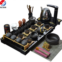 Tea set yixing kung fu tea set tea set solid wood tea tray lh-0122