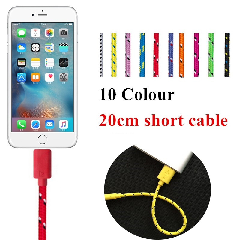 NEW original quality 20cm/1/2/3m Braided nylon Wire 8 pin USB Cable Sync Woven Charging Charger cable for iPhone 5 5S 6s 6 plus(China (Mainland))