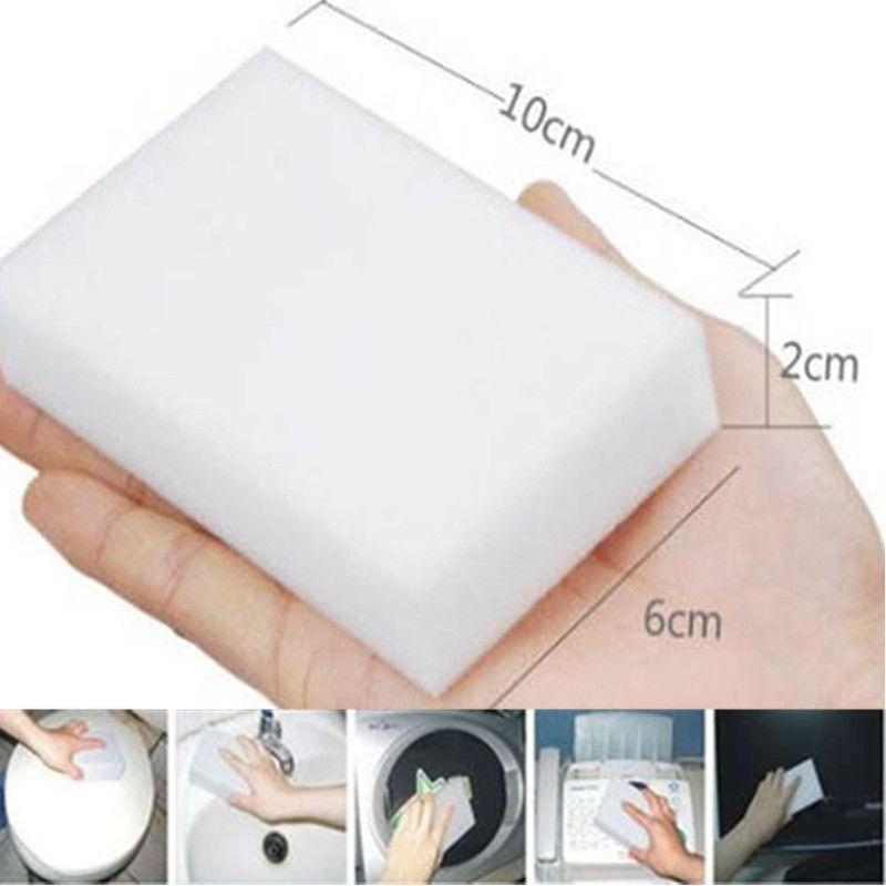 100pcs Super clean white melamine sponge, melamine sponge, magic sponge scouring pad,keyboard cleaner,cleaning tools,10*6*2cm(China (Mainland))
