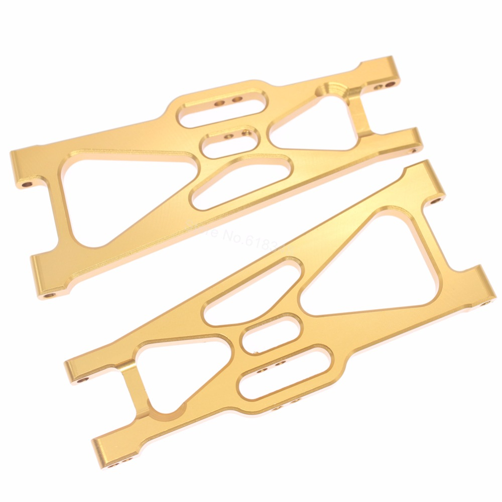 5Pairs/Lot Alum Rear Lower Susp Arm A-Arms For RC 1:10 Electric Himoto E10MT E10MTL E10XT E10XTL Truggy Truck Parts 33603G 31604(China (Mainland))