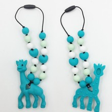 Buy silicone teething giraffe pacifier necklace Hanging Toy -silicone Baby Carrier Teething Accessory -baby teether giraffe Necklace for $5.60 in AliExpress store