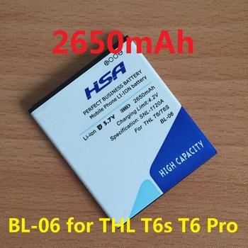 2650mAh BL-06 / BL 06 Phone Battery for THL T6s T6 Pro T6C