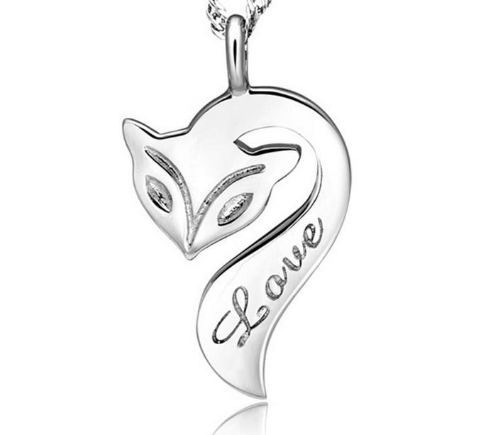S925 Sterling Silver Necklace Pendant The Female Fox Fire Joker Short Clavicle Silver Jewelry necklaces&pendants(China (Mainland))
