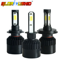 Buy 72W 8000LM H7 H4 LED H11 H1 H3 H13 9005 9006 9007 Car LED Headlight COB Chip Auto Fog Lamp Bulb 6500k White Xenon H7 Car Styling for $11.79 in AliExpress store