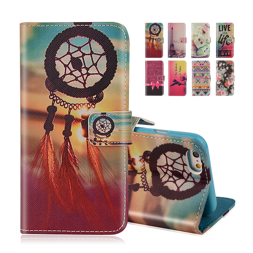 Wallet Style Flip Case Anchor Stripe Aztec Tribal Tribe Cartoon Print iphone 4 4S 4G Stand PU Leather Cell Phone Cover - UTOPER Official Store store