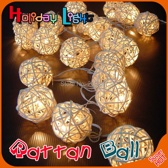 20 Latterns Leds 2.2M Creamy Warm White Fairy String Christmas Tree Lights Outdoor for Weddings Natal Garden Holiday Decoration(China (Mainland))