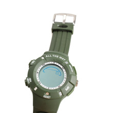 Dark Green Wrist Watch with Thermometer Altimeters GPS Waterproof for Outdoor New BS88