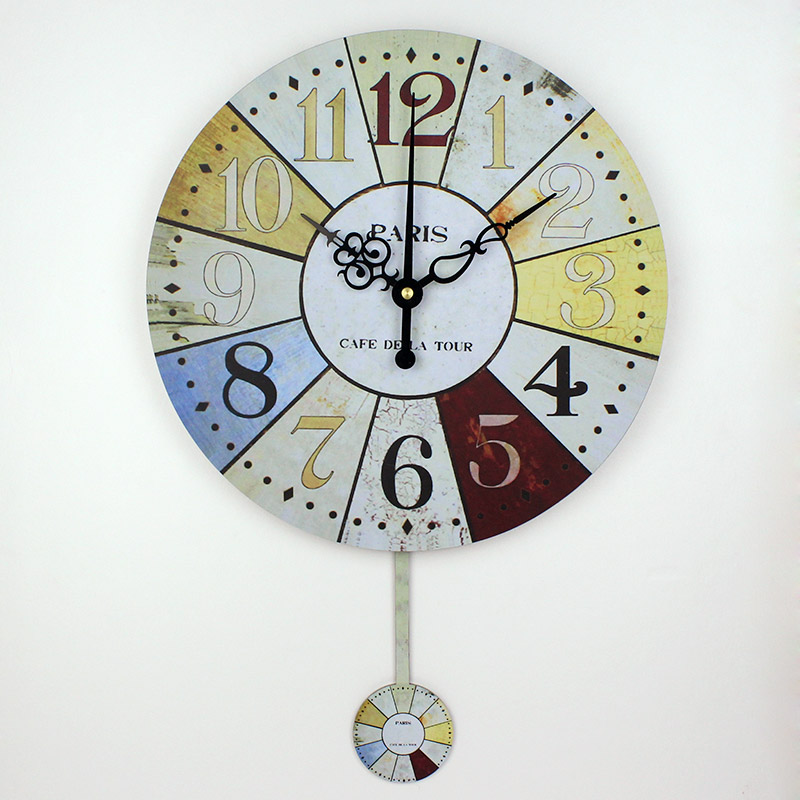 Frozen Pendulum Wall Clock Modern Design Silent Large