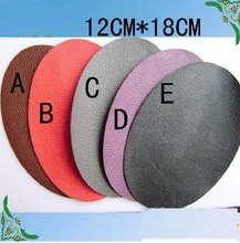 Free shipping monolithic sweater elbow back glue stick sleeve post knee oval single 12cm x 18cm PU leather fabric patches kids(China (Mainland))
