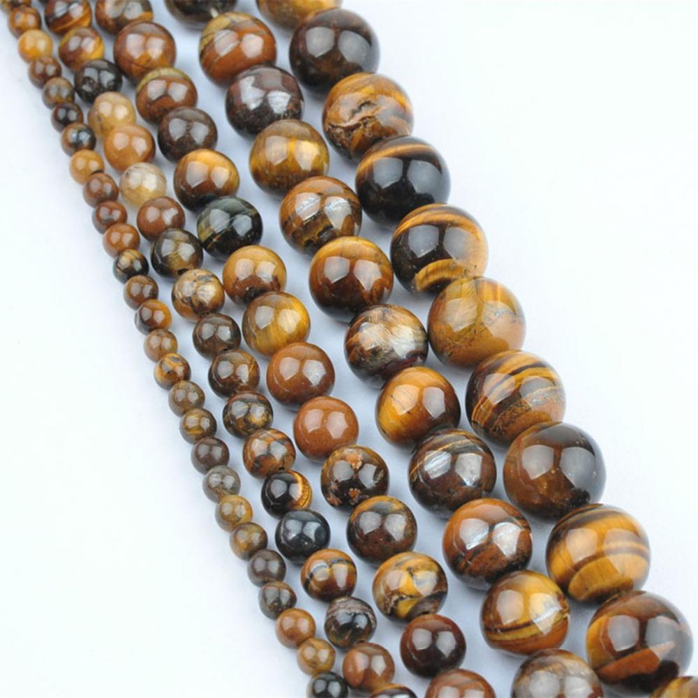 Гаджет  New 4mm/6mm/8mm/10mm/12mm Tiger Eye Round Natural Stone Loose Beads For Jewelry Making Diy Bracelet Strand Free Shipping None Ювелирные изделия и часы