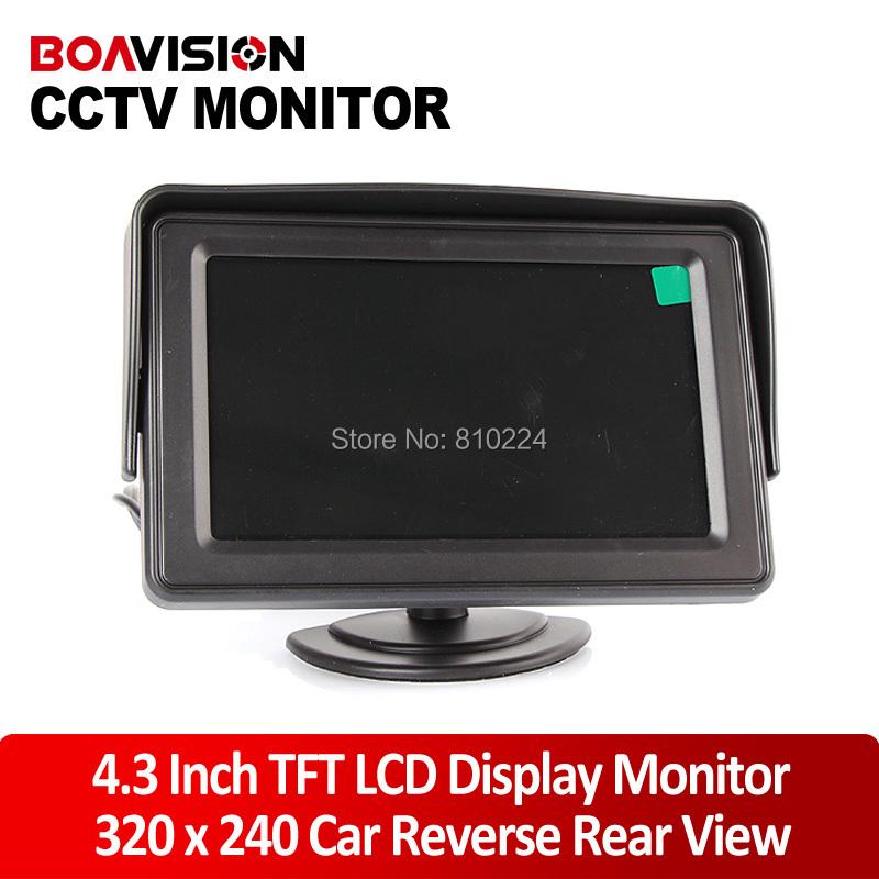 4.3 Inch Display TFT Color LCD Monitor CCTV Camera Monitor 2 AV Input, 1 Way For Rear View(China (Mainland))