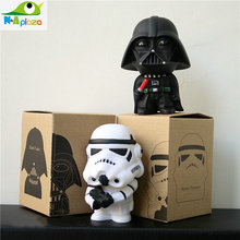 2pcs/set 2015 New Star Wars Figures toy  Black Knight Darth Vader Stormtrooper PVC Action Figures DIY Educational TOYS(China (Mainland))