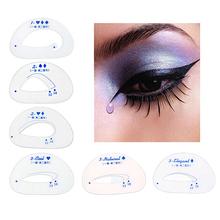 6x Eyebrow Stencils Eyeshadow Models Tracing Shadow Card Makeup Auxiliary Tools 9UBY - Fashion Health&Beauty store
