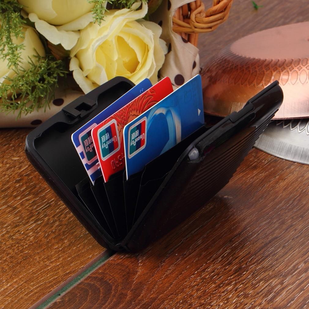 1pcs Aluminum Metal Waterproof Box Case Business ID Credit Card Holder Wallet Hot Selling(China (Mainland))