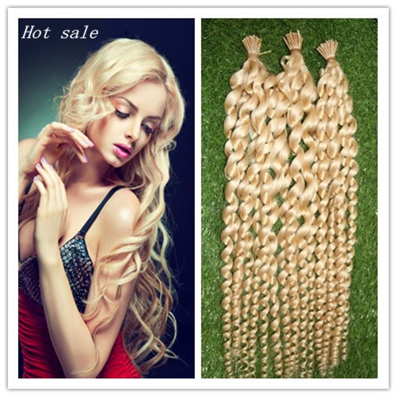 Hair Extensions Capsules I Tip Hair Loose Wave Keratin Stick Tip Hair Extensions 100S 100g Human Blonde Hair Keratin Extension