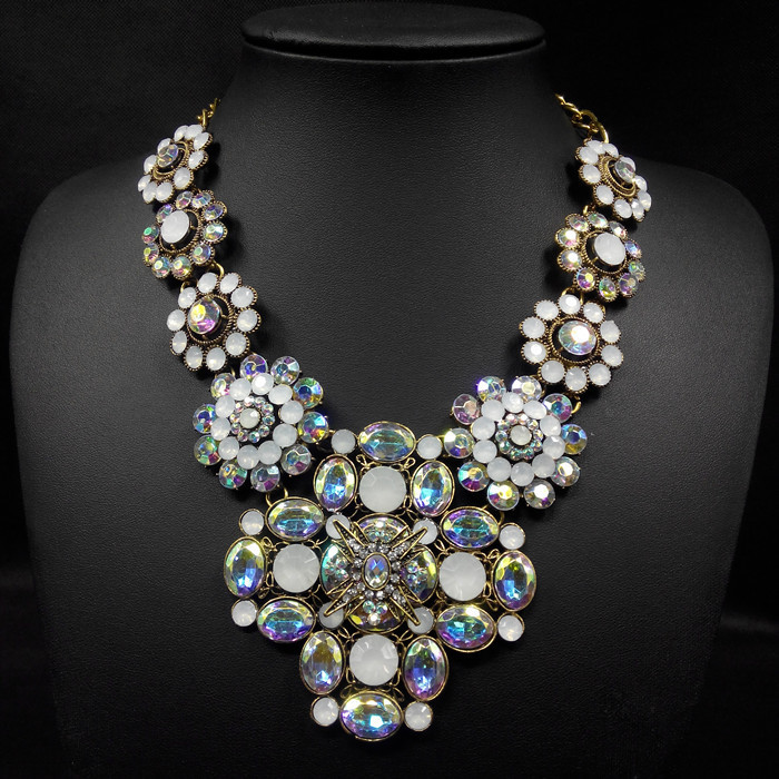 n00934 2015 new za brand fashion big flower pendants necklaces women vintage statement choker necklace jewelry retro accessories(China (Mainland))