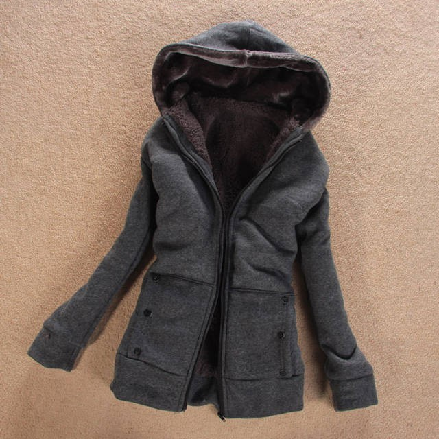 2015 Winter Jacket Women Hoodies Zipper Thick Wool Outerwear Lady Casual Mink Fur Coat - VIBE store