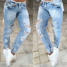 2016 new fashion style high quality summer women jeans low waist pencil pants plaid regular hollow out women casual summer jeans