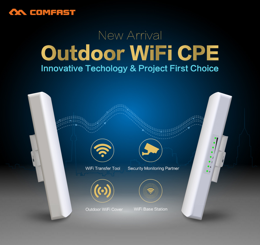 COMFAST CF-E314N 300M 2.4G Outdoor Wireless wifi access point receiver WI FI signal booster Amplifier 14dBi Antenna wi fiCPE AP(China (Mainland))