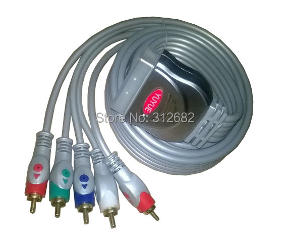5 FT SCART to 5 RCA COMPONENT RGB Video + Audio FOXTEL, Free Shipping(China (Mainland))