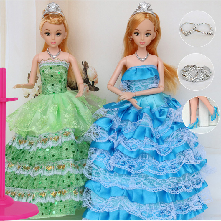 """12 Moveable Joint Body Princess Babe Doll 30cm 11"""" Wedding Design Dress Suite Kids Toy Brinquedo Girl Gift(China (Mainland))"""