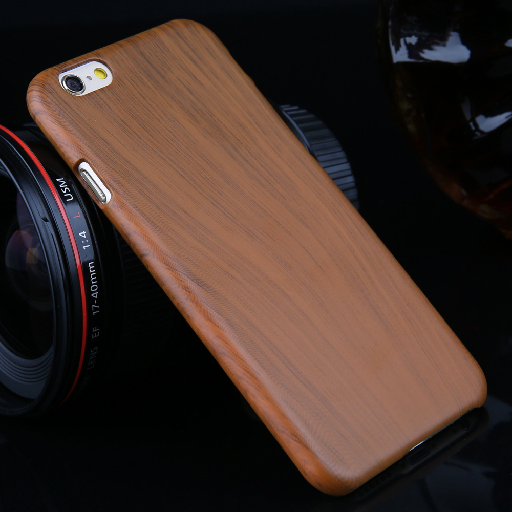 For Apple 6 6S 6Plus 6S Plus Phone Case Luxury Wooden Pattern Hard Plastic Cell Phone Case Super Slim Back Cover(China (Mainland))