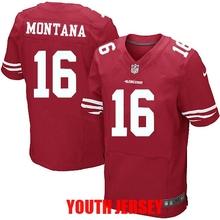 100% Stitiched San Francisco 49ers Colin Kaepernick Patrick Willis Joe Montana Jerry Rice NaVorro Bowman For YOUTH KIDS(China (Mainland))