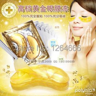 60pcs=30packs Hotsale Gold Crystal collagen Eye Mask Hotsale eye patches dark circles face mask(China (Mainland))
