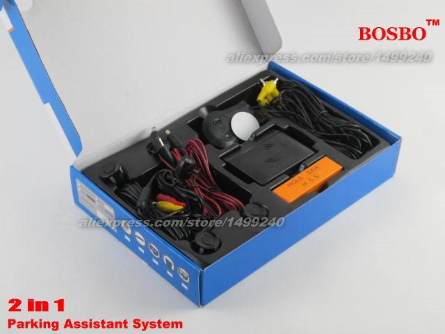 For Honda Fit 2001-2008 - Car Parking Sensor+ Rear View Camera 2in1 Assistance System - 4 Radars / Visible Model<br><br>Aliexpress