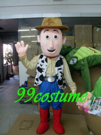 Free Shipping Adult Size Woody Man Cartoon Cosplay Mascot Costume Cosplay Christmas Hallowmas Party Dress