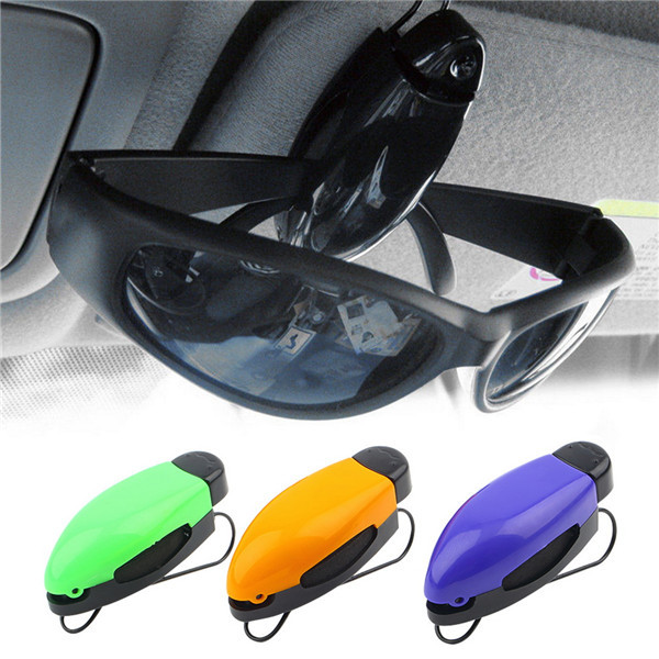 Car Glasses Holder Auto Vehicle Visor Sunglass Eye Glasses Business Bank Card Ticket Holder Clip Support +Color Random Newest(China (Mainland))