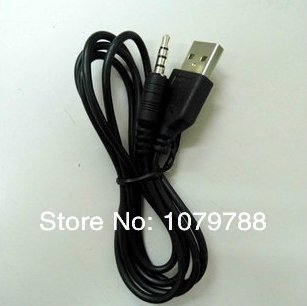 USB to 3.5MM cable adapter cable Speaker MP3/MP4 download / charging / audio converter cable 60CM(China (Mainland))