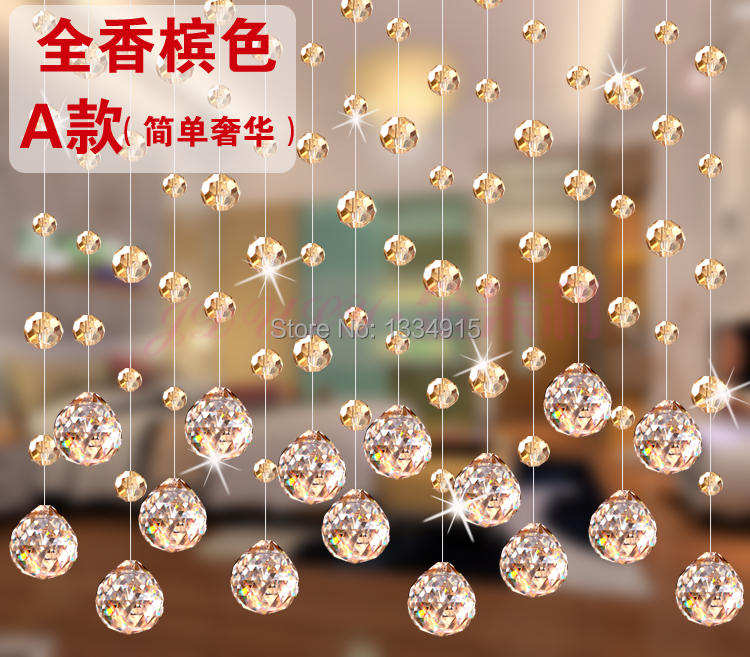 Free shipping 1m of crystal bead curtain can be customized porch partition door curtain decoration pineapple crystal curtain(China (Mainland))