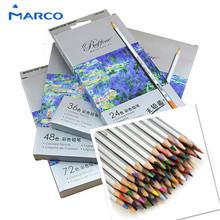 Marco 72pcs Color Pencil  lapis de cor Professional Non-toxic Lead-free Colored Pencil School Supplies Painting Pencils(China (Mainland))
