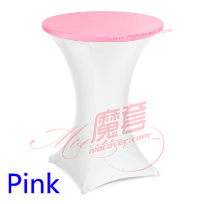 Pink spandex cocktai table top cover,lycra table top cover for wedding,banquet and party cocktail table decoration(China (Mainland))